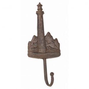 Rustic Cast Iron Lighthouse Key Hook 11