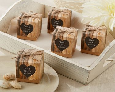 Set of 24 - Rustic Hearts Favor Boxes 2