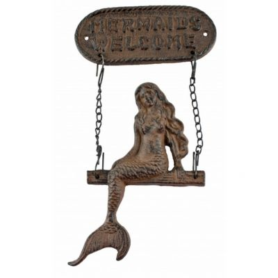 Rustic Iron Mermaids Welcome Sign 11