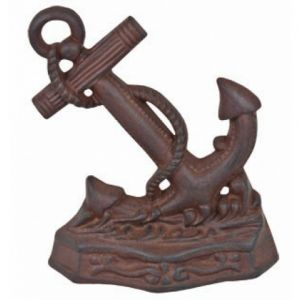 Rustic Iron Anchor Door Stop 8