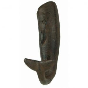 Rustic Iron Whale Key Hook 6
