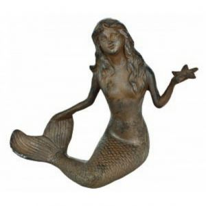 Rustic Cast Iron Large Mermaid 15