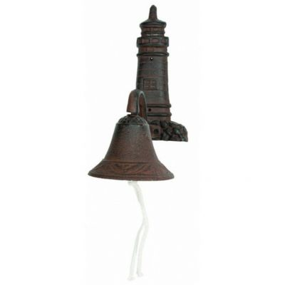 Rustic Cast Iron Lighthouse Bell 8""