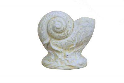 Antique White Cast Iron Nautilus Shell Door Stopper 8\