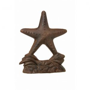 Rustic Cast Iron Starfish Door Stop 11