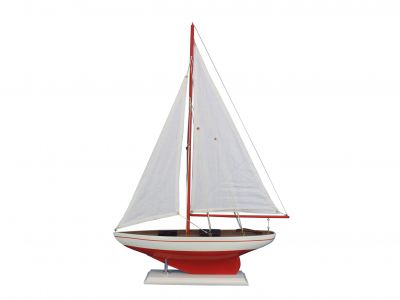 Pacific Sailer Red 25 - White Sails