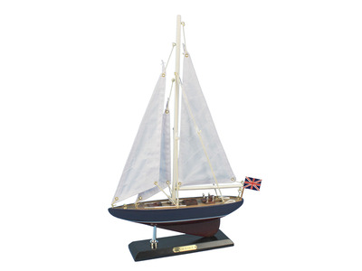 Wooden Endeavour Model Sailboat Decoration 16\