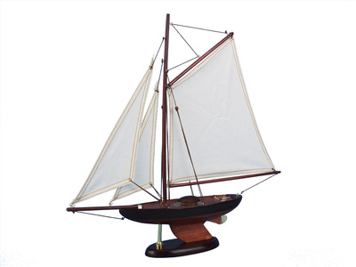 Wooden Newport Sloop Model Decoration 17""