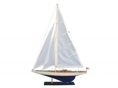 Wooden Enterprise Model Sailboat Decoration 35""
