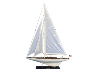 Wooden Intrepid Model Sailbaot Decoration 35\