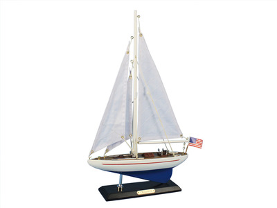 Wooden Enterprise Model Sailboat Decoration 16\
