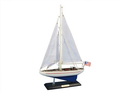 Wooden Enterprise Model Sailboat Decoration 16\