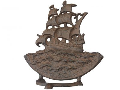 Rustic Iron Sailboat Door Stop 15