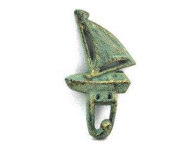 Antique Bronze Cast Iron Sailboat Hook 6\
