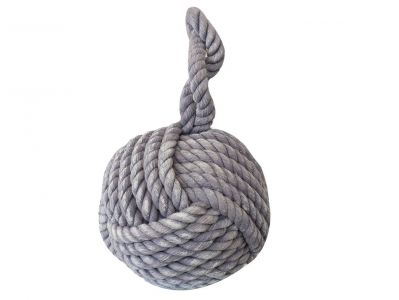 Light Blue Sailors Knot Door Stop 12