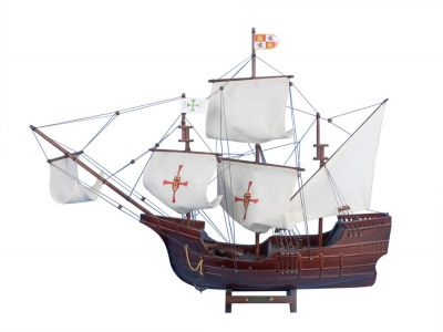 Wooden Santa Maria Limited Tall Model Ship 30""