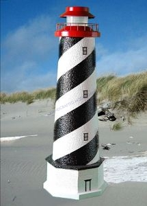 St. Augustine Stucco Electric Landscape Lighthouse w-Base 28