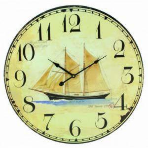 Wooden Vintage Schooner Clock 23