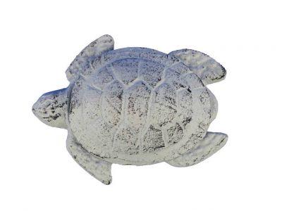 Whitewashed Cast Iron Decorative Turtle Bottle Opener 4\