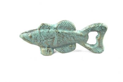 Antique Bronze Cast Iron Fish Bottle Opener 5\