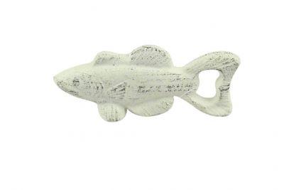 Whitewashed Cast Iron Fish Bottle Opener 5\