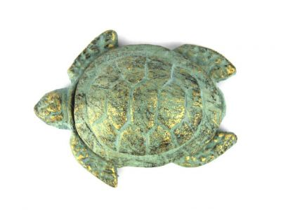 Antique Bronze Cast Iron Decorative Turtle Bottle Opener 4\