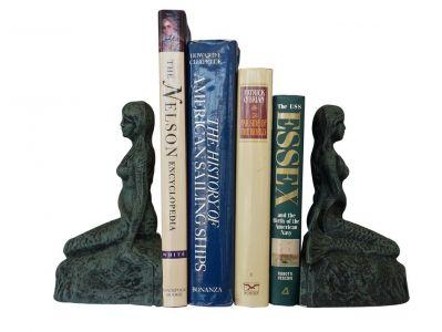 Seaworn Cast Iron Mermaid Bookends 8