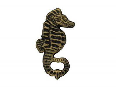 Rustic Gold Cast Iron Seahorse Bottle Opener 5""