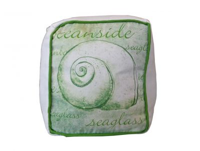 Green Oceanfront Seashell Doorstop 6