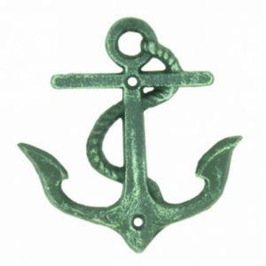 Seaworn Cast Iron Anchor Key Hook 5