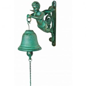 Seaworn Cast Iron Figure Head Bell 9
