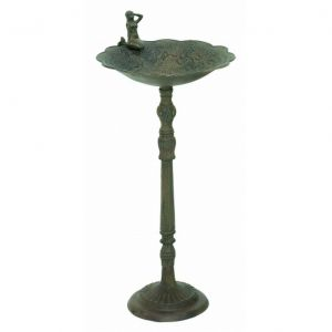 Seaworn Cast Iron Mermaid Bird Bath 32