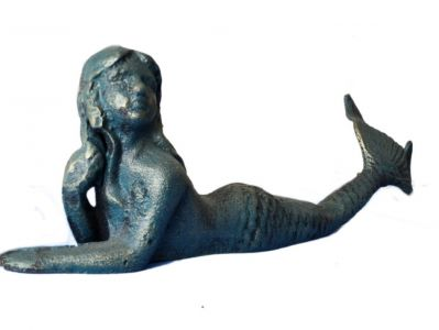 Seaworn Cast Iron Laying Mermaid 10