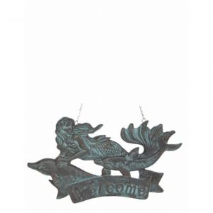 Seaworn Cast Iron Mermaid Welcome Plaque 11