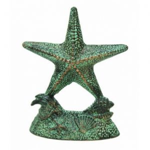 Seaworn Cast Iron Starfish Door Stop 9""
