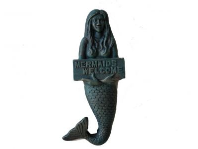 Seaworn Cast Iron Mermaids Welcome Sign 12