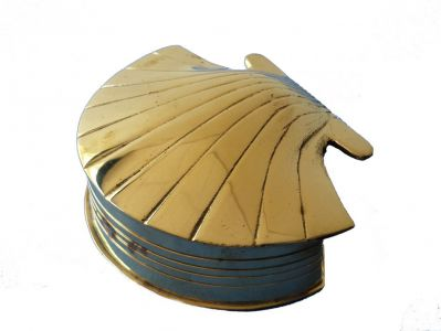 Brass Scallop Shell Box 4