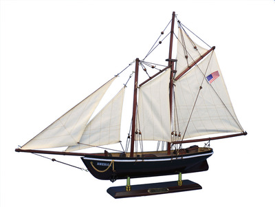 Wooden America Model Sailboat Decoration 24\