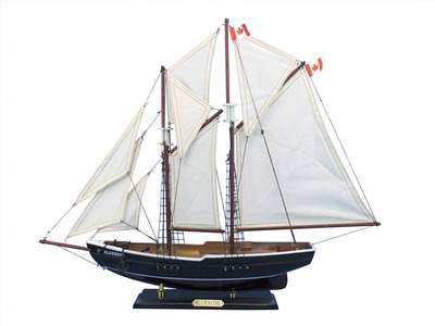 Wooden Bluenose Model Sailboat Decoration 24""