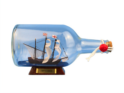 Mayflower Ship in a Bottle  9