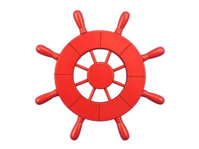 Red Decorative Ship Wheel 9\