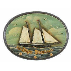 Wooden Ships Stores Sign Coat Rack 16