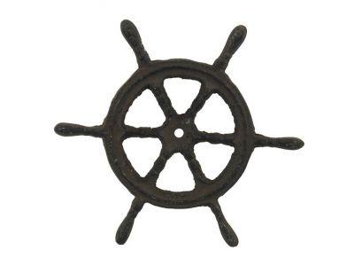 Cast Iron Ship Wheel Trivet 6\