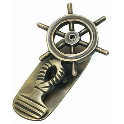 Antique Brass Ship Wheel Paper Clip 5