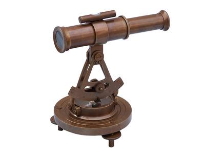Antique Brass Brass Alidade Compass 7