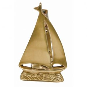 Solid Brass Sailboat Door Knocker 6