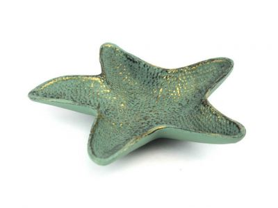Antique Bronze Cast Iron Starfish Decorative Bowl 8\