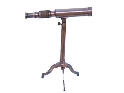 Antique Copper Telescope on Stand 17