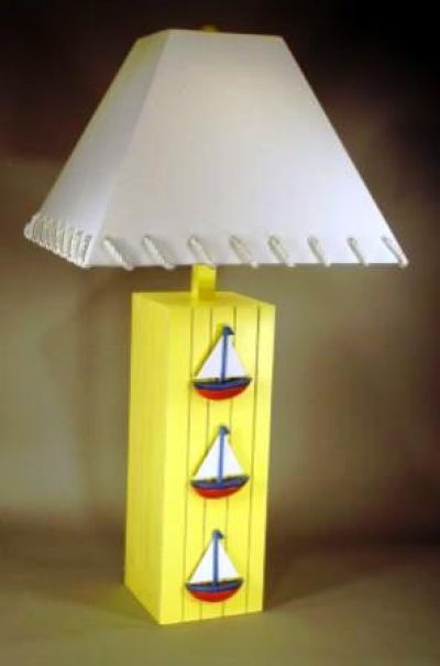 Three Sailboat Electric Lamp 32