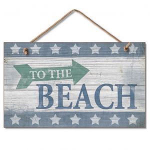 Wooden To The Beach Sign 10